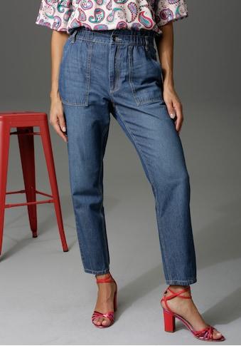 Aniston CASUAL Loose-fit-Jeans, high waist mit bequemen Gummizugbund, Paperbag-Jeans kaufen