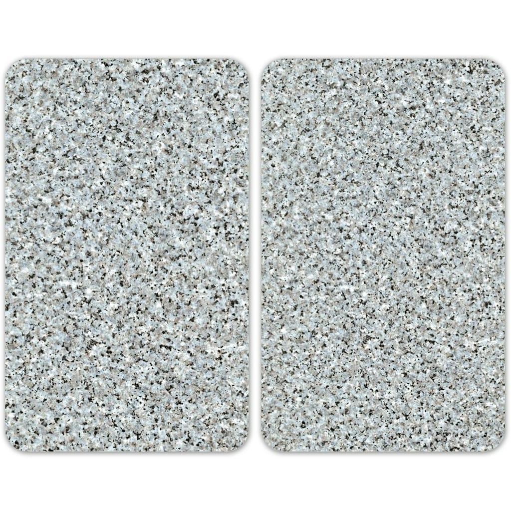 WENKO Herd-Abdeckplatte »Universal Granit«, (Set, 2 tlg.)