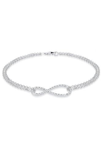Elli Armband »Infinity Kristalle 925 Silber« kaufen