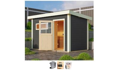Karibu Saunahaus »Uwe 1«, 9-kW-Ofen mit ext. Steuerung kaufen