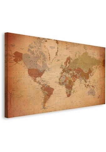 Home affaire Leinwandbild »Weltkarte Antik - Englisch«, 135/78 cm kaufen