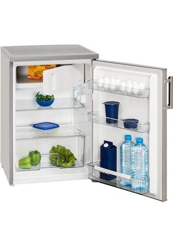exquisit Table Top Kühlschrank »KS 16-1 A+++«, KS 16-1 A+++ Inoxlook, 84,5 cm hoch, 56 cm breit kaufen