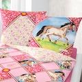 Pferdefreunde Kinderbettwäsche »Potro«, mit Blumen und Pferden