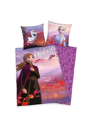 Walt Disney Kinderbettwäsche »Frozen, die Eiskönigin II, Baumwoll-Renforcé« kaufen