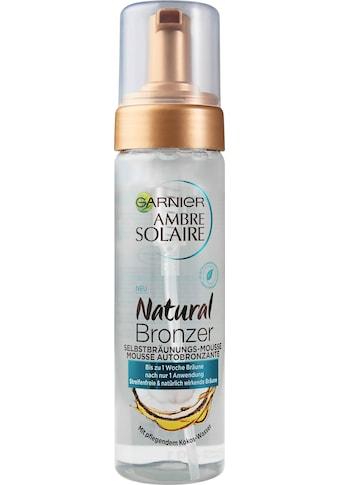 GARNIER Selbstbräunungsmousse »Ambre Solaire Natural Bronzer«, mit pflegendem Kokoswasser kaufen