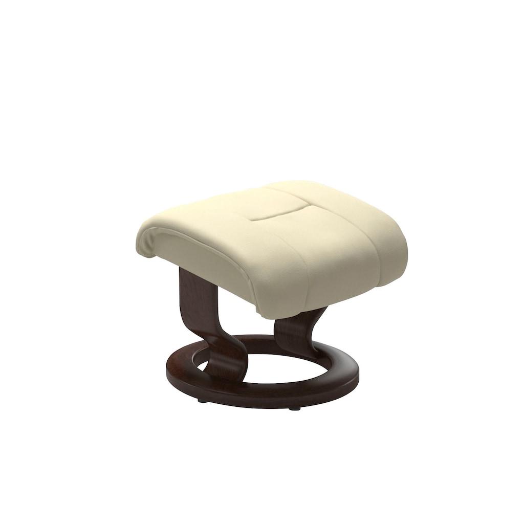 Stressless® Relaxsessel »Reno«, mit Hocker, mit Classic Base, Größe S, M & L, Gestell Braun