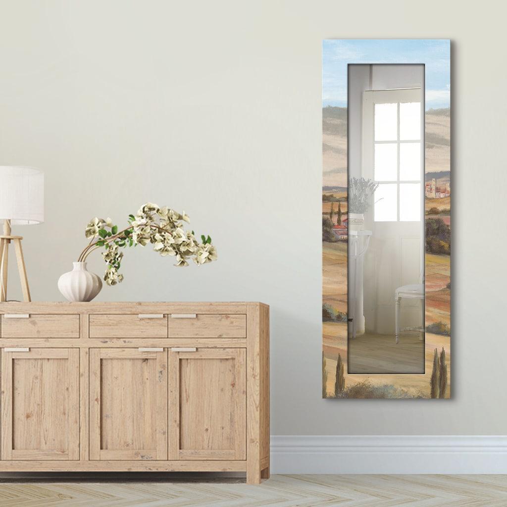 Artland Wandspiegel »Toskanisches Tal I«, gerahmter Ganzkörperspiegel mit Motivrahmen, geeignet für kleinen, schmalen Flur, Flurspiegel, Mirror Spiegel gerahmt zum Aufhängen