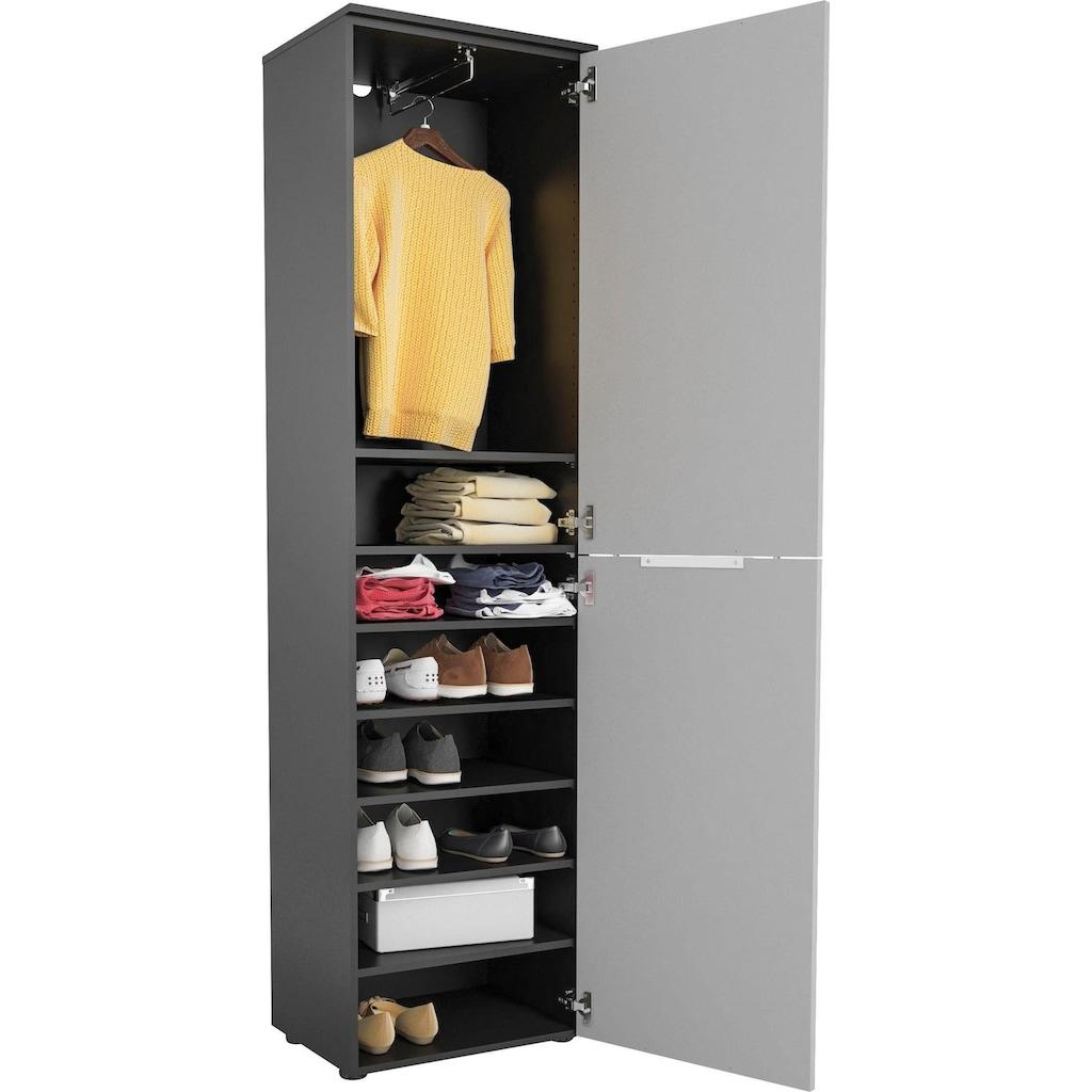 Maja Möbel Garderobenschrank »TREND Garderobenschrank 2565«, Oberplatte Holz, ausziehbare Kleiderstange