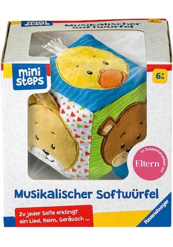 Ravensburger Greifspielzeug »ministeps® Musikalischer Softwürfel«, mit Sound, FSC® -... kaufen