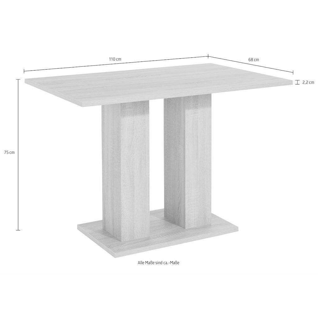 my home Säulen-Esstisch, Breite 68 oder 110 cm