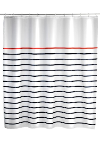 WENKO Duschvorhang »Marine White«, Breite 180 cm, Höhe 200 cm, Polyester, waschbar kaufen