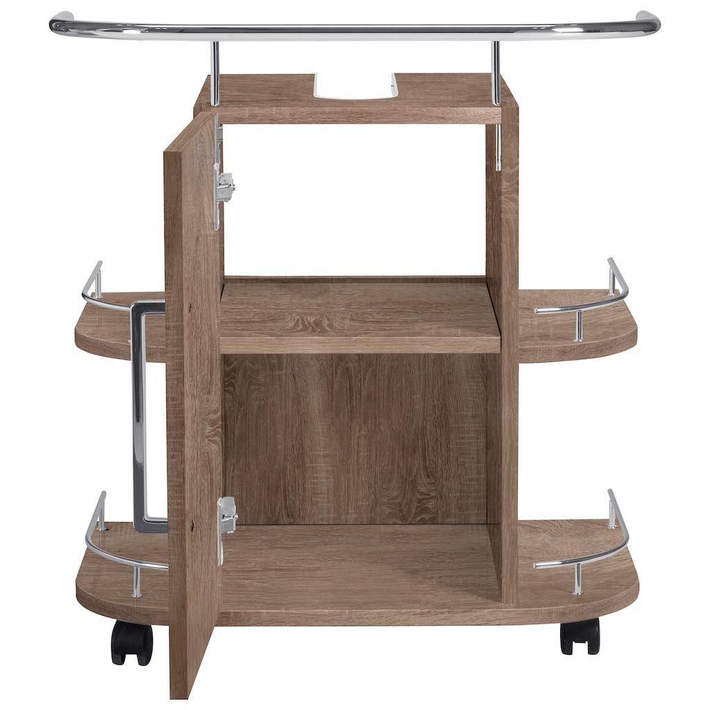 OPTIFIT Waschbeckenunterschrank »Napoli«, mit Soft-Close-Funktion und Rollen, Breite 60 cm