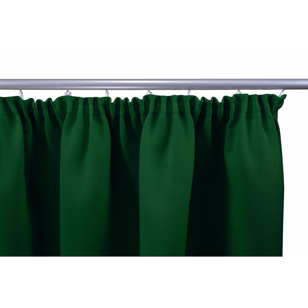 VHG Vorhang »Gerti«, Leinenoptik, Uni, Deko