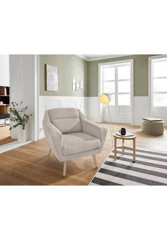 andas Sessel »Bille«, mit Naht im Rückenkissen und Eiche-Beinen, Design by Morten... kaufen