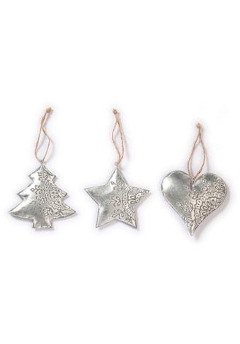 CHRISTMAS GOODS by Inge Dekohänger »Herz, Stern, Baum«, 3-fach sortiert, mit Dekor kaufen