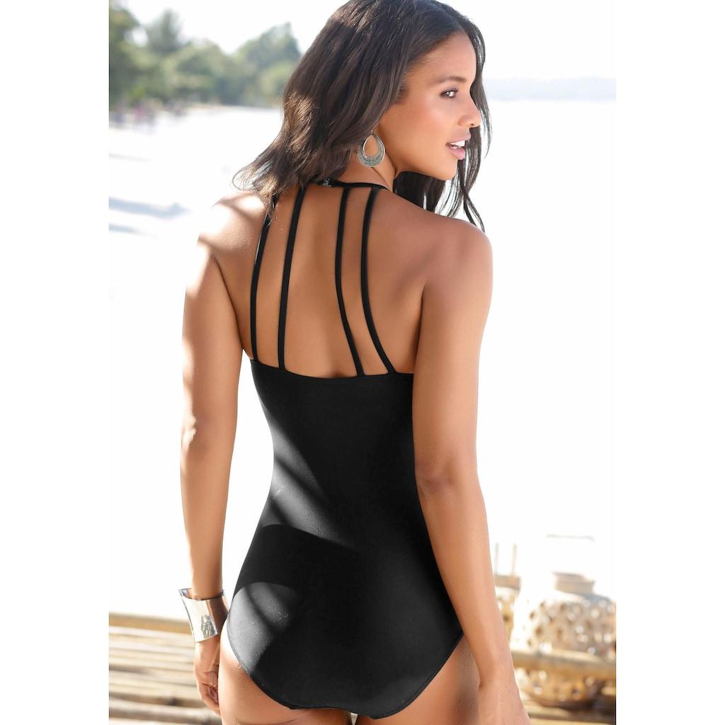 Bruno Banani Badeanzug, mit eleganter Ausschnittvariante
