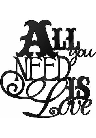 Wall-Art Wandbild »All you need is Love«, 30/30 cm kaufen