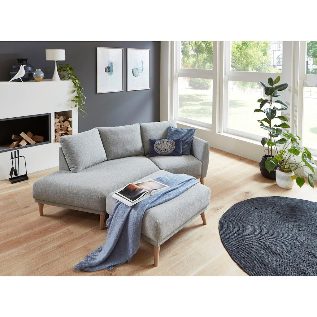 ATLANTIC home collection 2,5-Sitzer »Elvis«, Polsterecke mit offenem Ende im skandinavischen Stil
