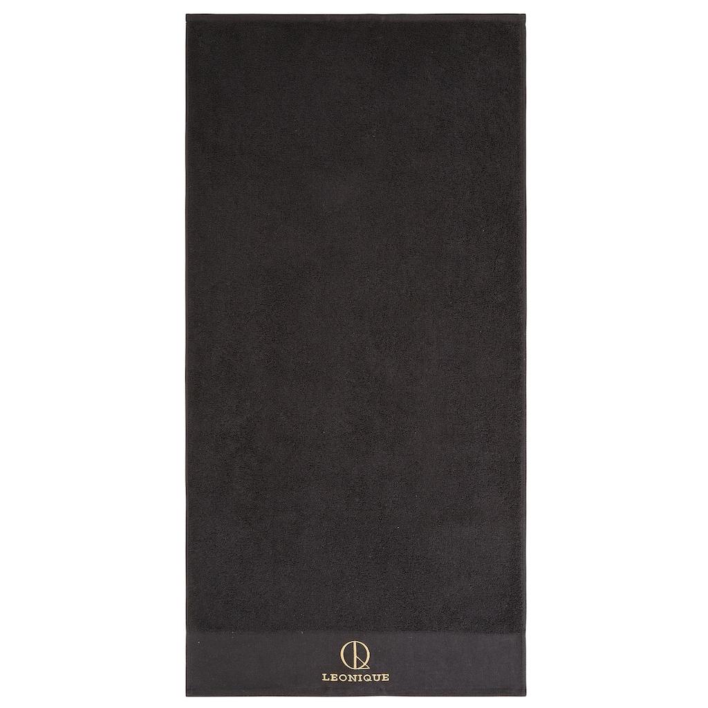 Leonique Handtuch Set »James«, mit eingesticktem Logo
