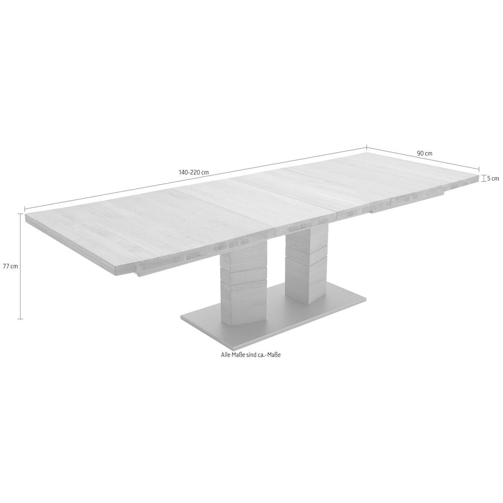 MCA furniture Esstisch »Cuneo A«, Esstisch Massivholz ausziehbar