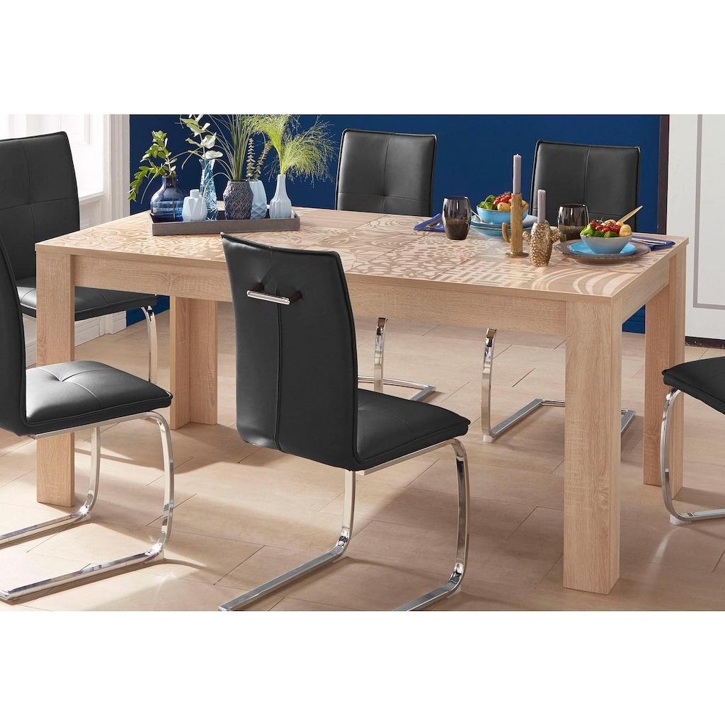 LC Esstisch »Miro«, Breite 180 cm mit oder ohne Ansteckplatten