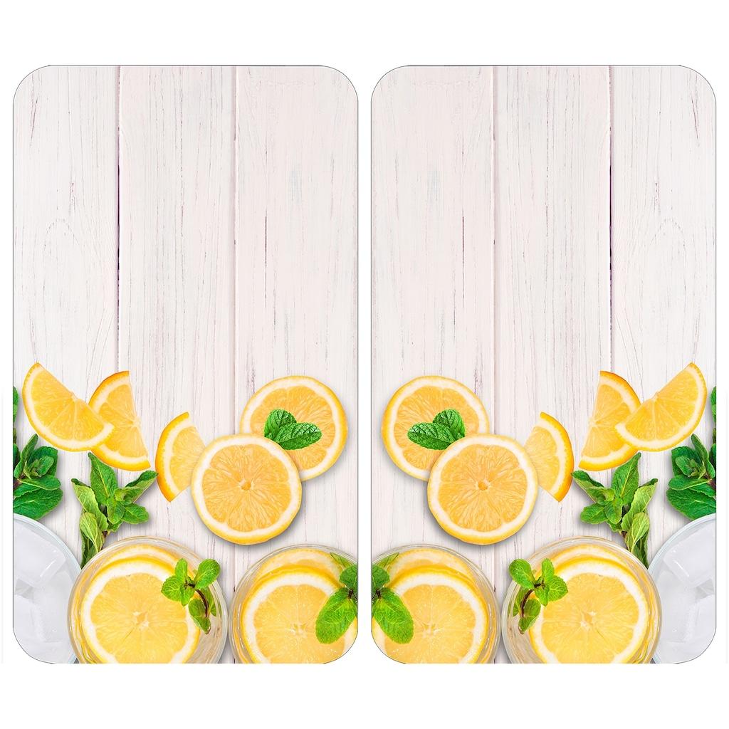 WENKO Herd-Abdeckplatte »Universal Zitronen«, (Set, 2 tlg.)