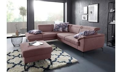 sit&more Ecksofa, 15 cm Fußhöhe, inklusive Sitztiefenverstellung, wahlweise... kaufen