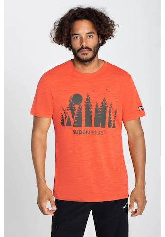 SUPER.NATURAL T-Shirt »M WILD AND FREE TEE«, pflegeleichter Merino-Materialmix kaufen