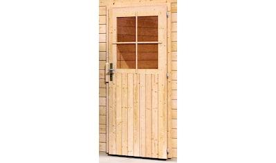 KARIBU Einzel - Garage »Florian«, BxT: 417x571 cm, Einfahrtshöhe: 193 cm, mit Dachfolie kaufen