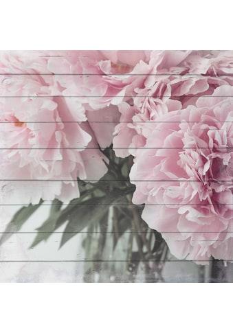 Home affaire Holzbild »Blumenstrauß«, 40/40 cm kaufen