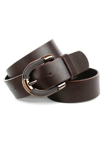 Anthoni Crown Ledergürtel, mit aufwendiger Schmuck-Schließe, schlicht und elegant kaufen