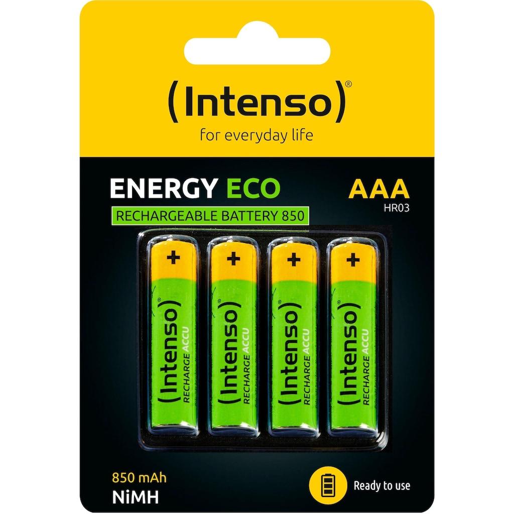 Intenso Akku »Rechargeable Eco AAA HR03 850mAh«, AAA, 850 mAh