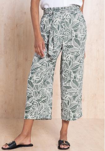bianca Culotte »PARIGI«, im sommerlichen Print mit Bindegürtel kaufen