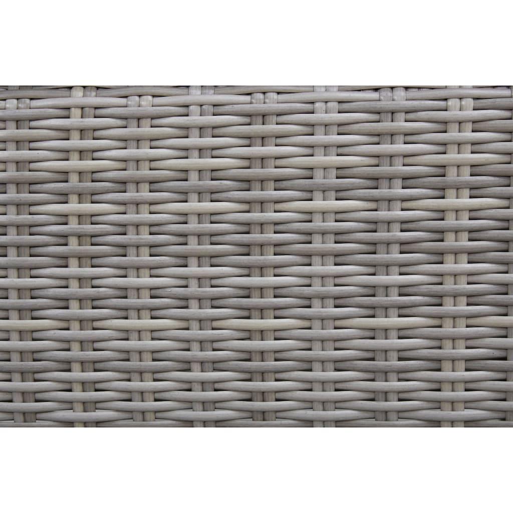 KONIFERA Gartenmöbelset »Menorca«, (19 tlg.), 6 Sessel, Tisch 200x100 cm, Polyrattan