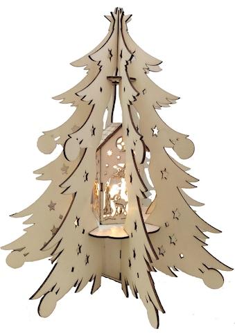 BONETTI LED Dekoobjekt »Holztannenbaum«, Warmweiß, mit beleuchteter Dekoration,... kaufen