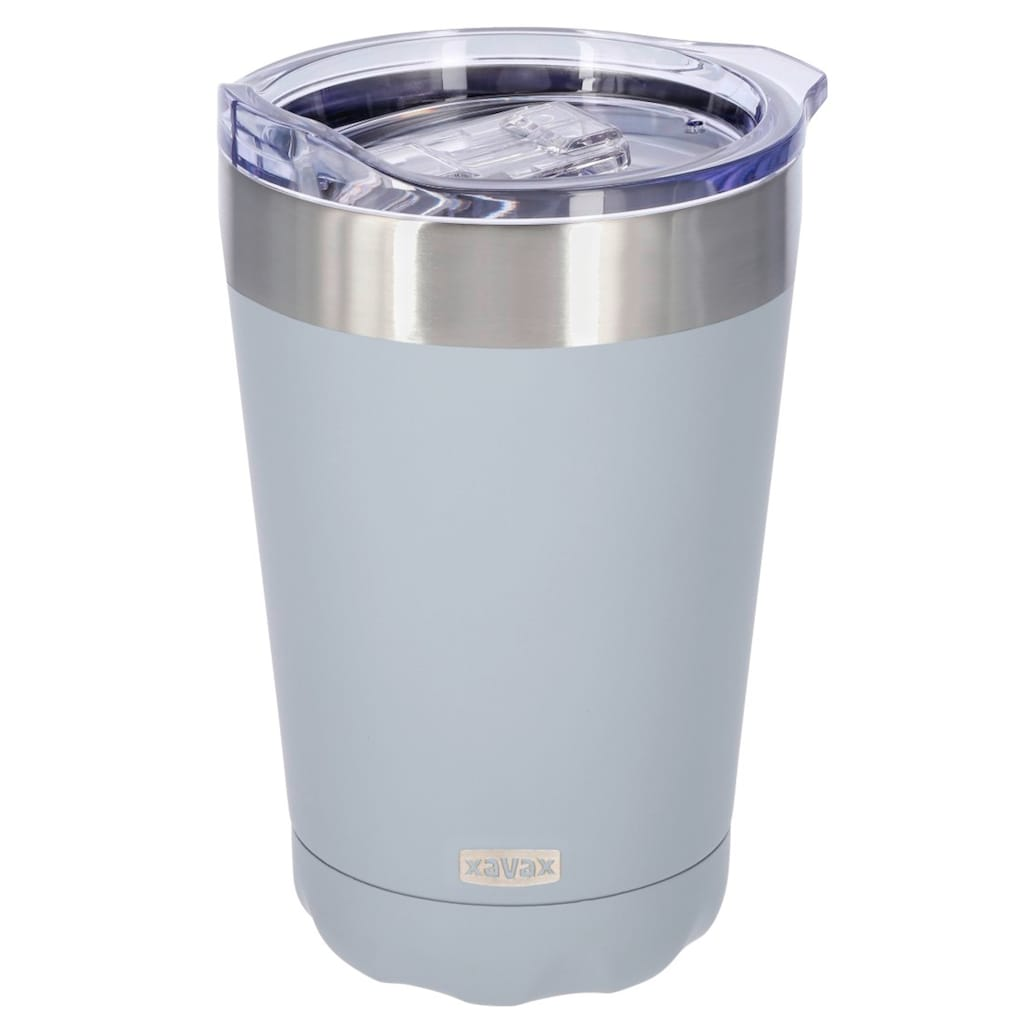 Xavax Thermobecher Isolierbecher Tee-/ Kaffeebecher, doppelwandig