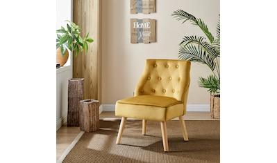 Home affaire Esszimmersessel »Emery«, 2er Set, aus schönem weichen Samtvelours Bezug, Sitzhöhe 42 cm kaufen