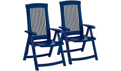 BEST Gartenstuhl »Kansas«, (2er Set), Kunststoff, verstellbar, blau kaufen