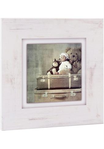 Home affaire Holzbild »Kuscheltiere auf Koffer«, 40/40 cm kaufen