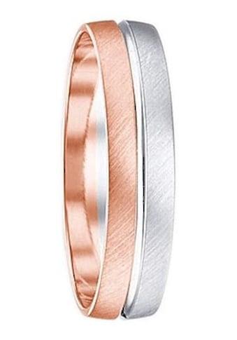 Firetti Trauring mit Gravur »quer gebürstet, Diamantschnitt, Bicolor, 5 mm breit«,... kaufen