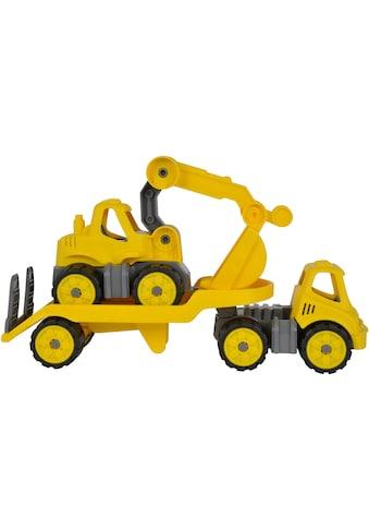 """BIG Spielzeug - Baumaschine """"BIG Power Worker Mini Transporter und Bagger gelb"""" (Set, 2 - tlg.) kaufen"""
