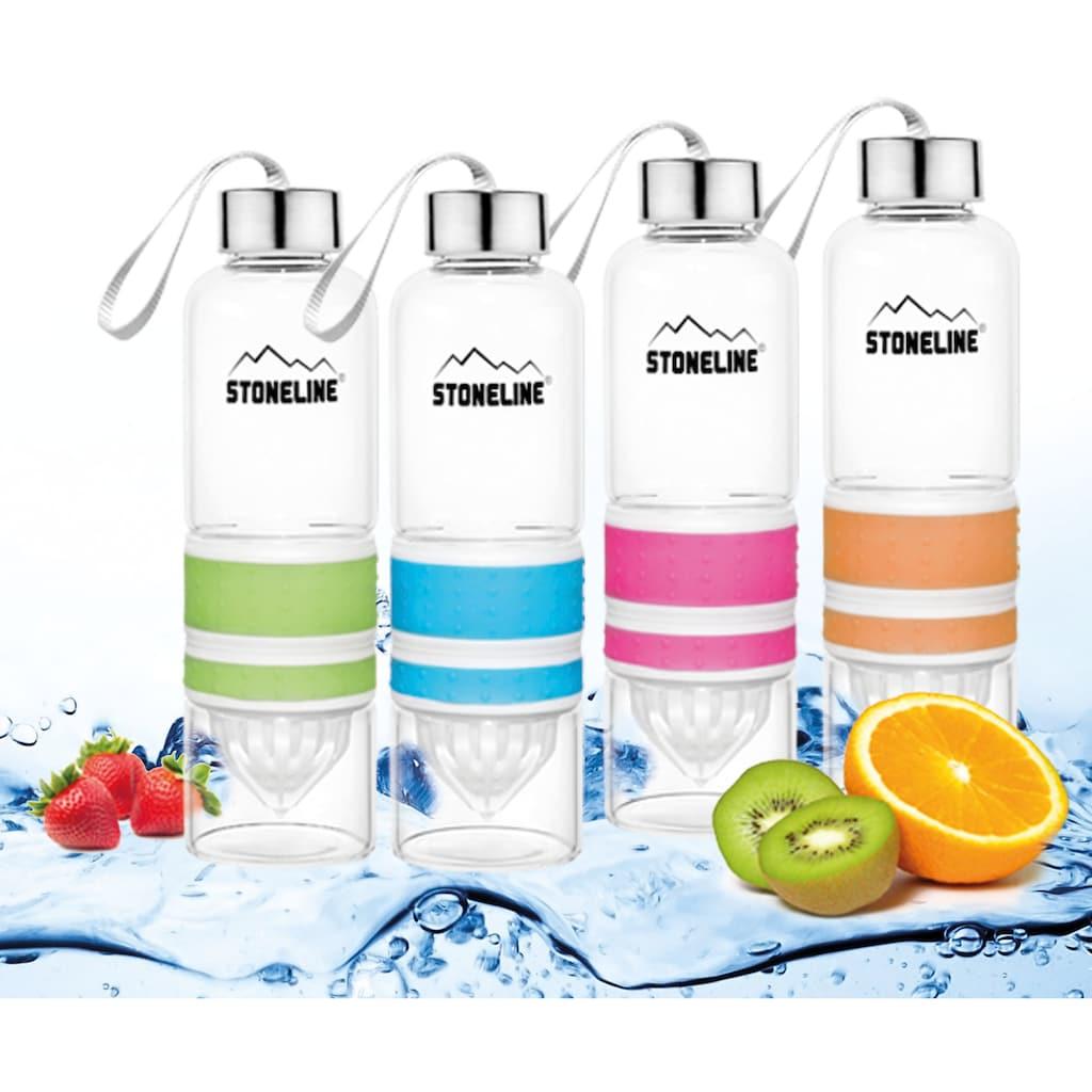 STONELINE Trinkflasche, (Set, 1 tlg.), herausnehmbarer Saftpressen-Aufsatz, 0,55 L
