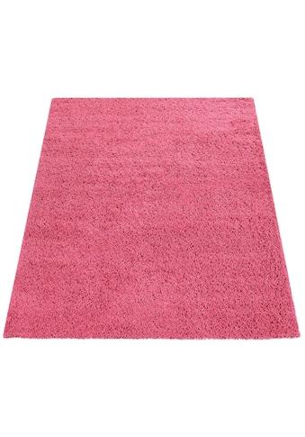 Paco Home Hochflor-Teppich »Sky 250«, rechteckig, 35 mm Höhe, gewebt, Uni Farben,... kaufen