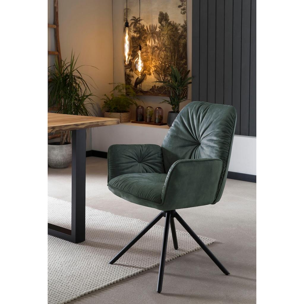 SalesFever Schalenstuhl, Esszimmerstuhl 360°Drehfunktion, Drehstuhl, Armlehnstuhl