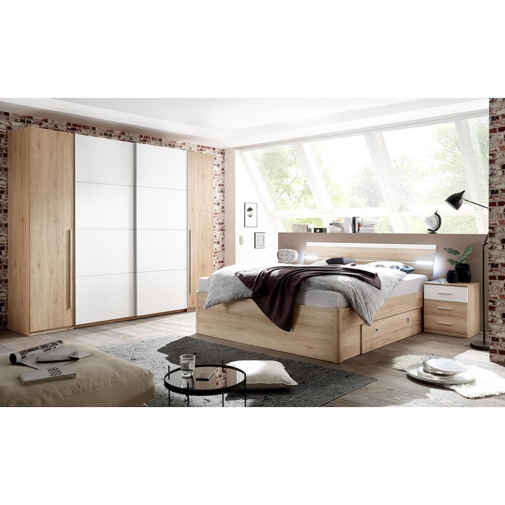 Schlafkontor Bett, inkl. 2 Nachttische und 2 Schubkästen
