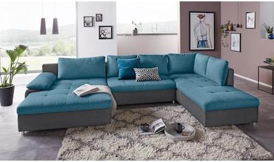 sit&more Wohnlandschaft, wahlweise mit Bettfunktion, Bettkasten und Federkern kaufen
