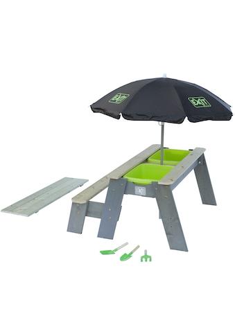 EXIT Kinderpicknicktisch »Aksent«, BxT: 94x94 cm, mit Sonnenschirm und Gartenwerkzeugen kaufen