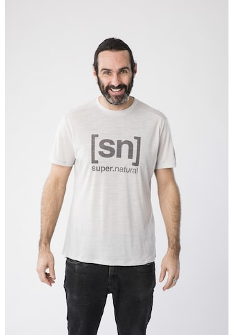 SUPER.NATURAL T-Shirt »M LOGO TEE«, feinster Merino-Materialmix kaufen