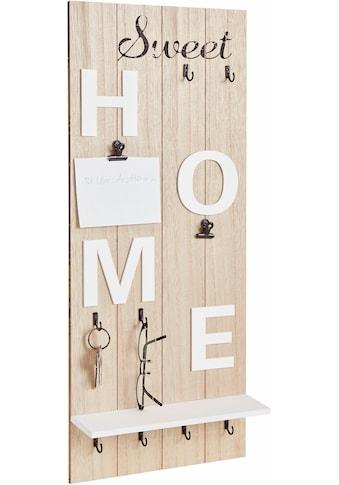 Home affaire Garderobenpaneel »Sweet Home«, Höhe 70 cm kaufen
