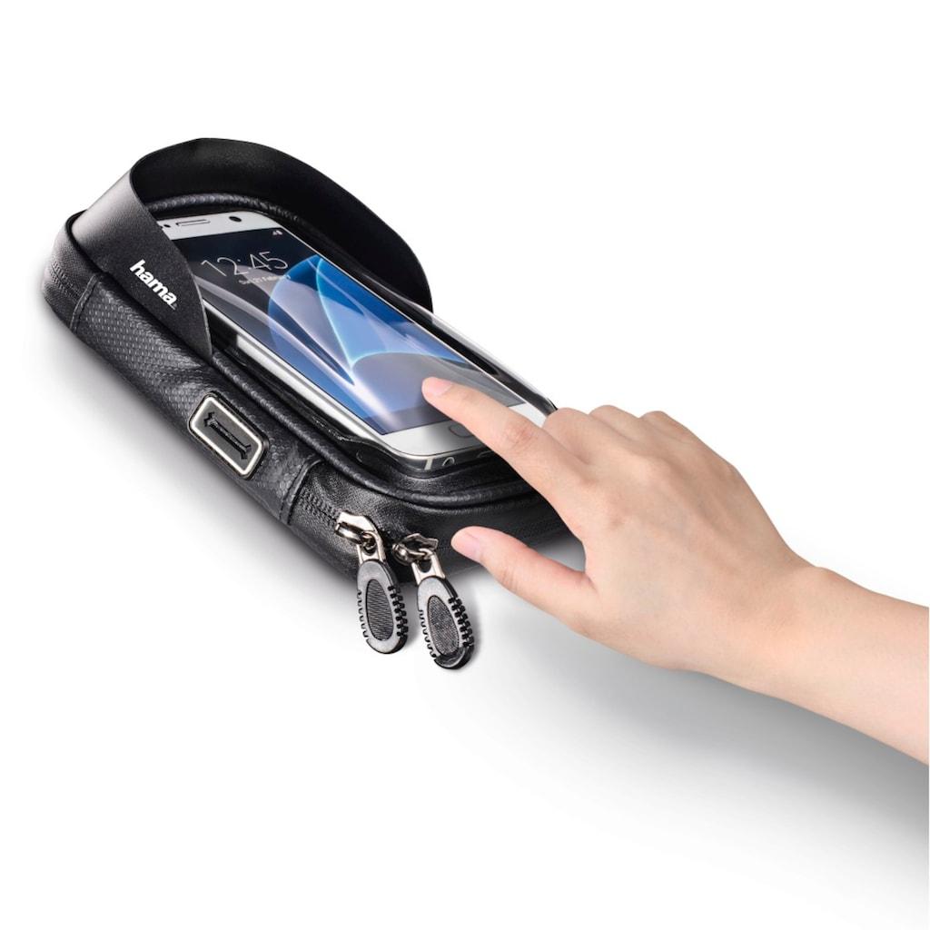 """Hama Lenkertasche »Klemmhalterung wasserabweisend«, Smartphone-Tasche """"Multi"""" als Lenkertasche fürs Fahrrad"""
